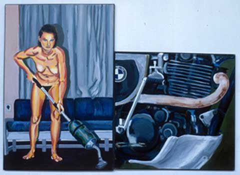 MOTOR AND HOOVERING GIRL, 1989